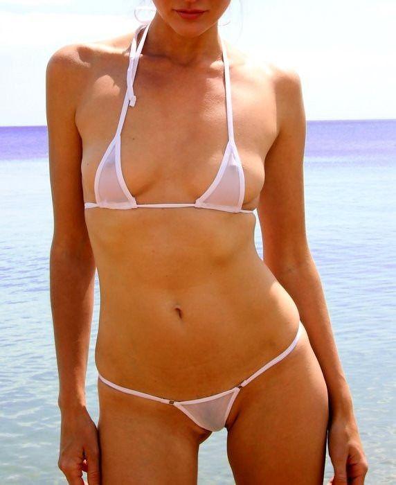 Micro Bikini Fio Dental Tule Transparente Mini Sexy R