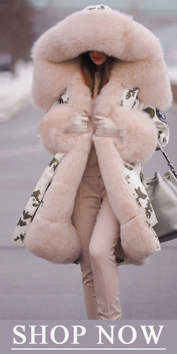Stylish Long Sleeve Cotton Coat #casualchristmasoutfitsforwomen