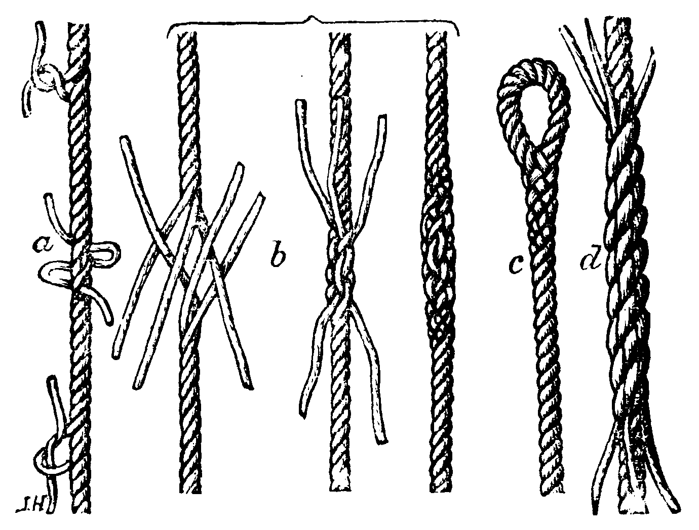 Knots/Rope splicing - Wikibooks, open books for an open world ... for Rope Ladder Knot  51ane