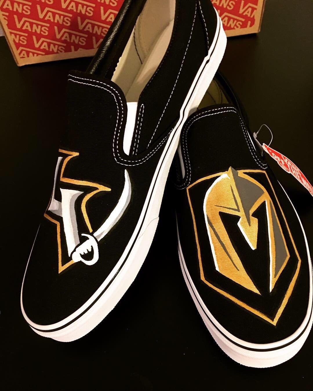 Las Vegas Golden Knights Painted Vans Etsy Vegas Golden Knights Golden Knights Painted Vans