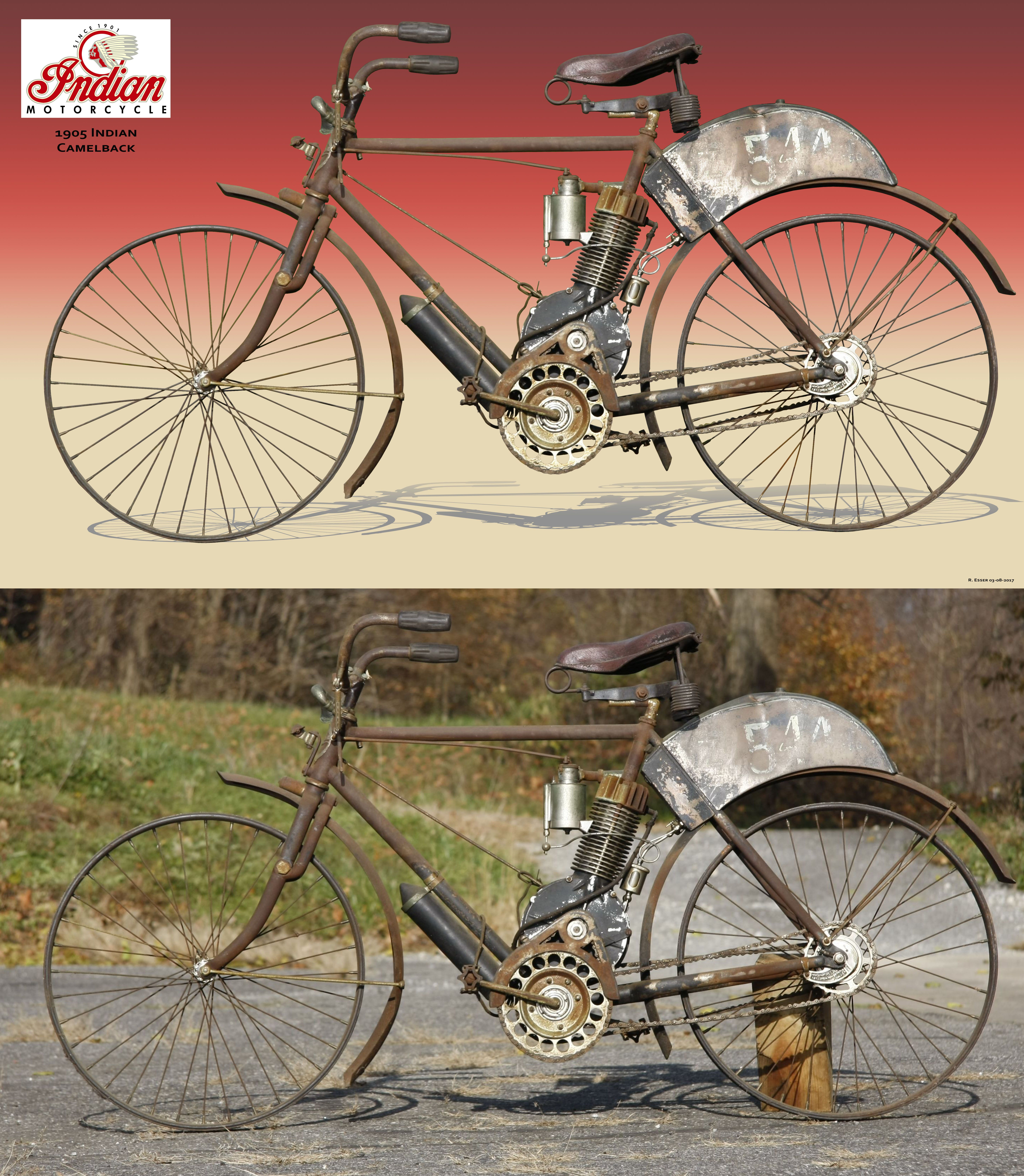 1905 Indian Camelback Motos Autos Viejitos