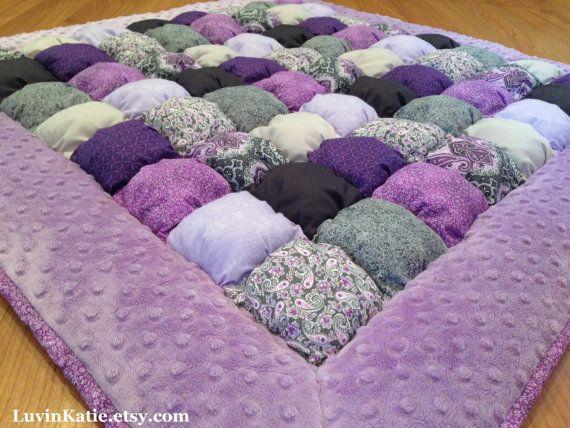 Baby bubble quilt bubble blanket puff quilt baby floor for Floor quilt for babies