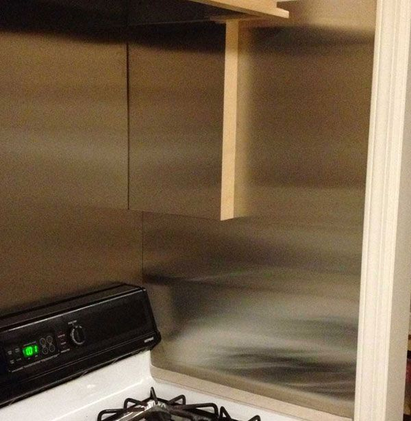 How to Install Your Own Stainless Steel Backsplash Sheet Kitchen