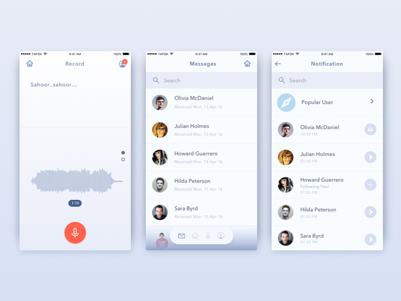Voice Messaging App Record Voice (With images