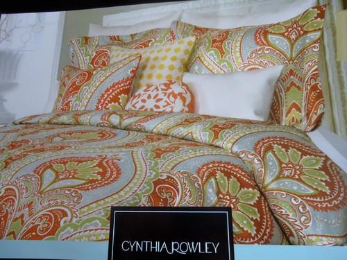 Cynthia Rowley Burnt Orange Gray Green Gold Blue Full
