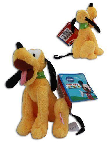 Pluto 8 Super Soft Plush Toy Dog Disney Junior Mickey Mouse