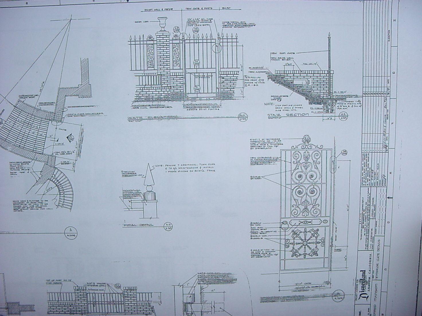 Disney haunted mansion blue prints main street tokyo for Haunted mansion blueprints