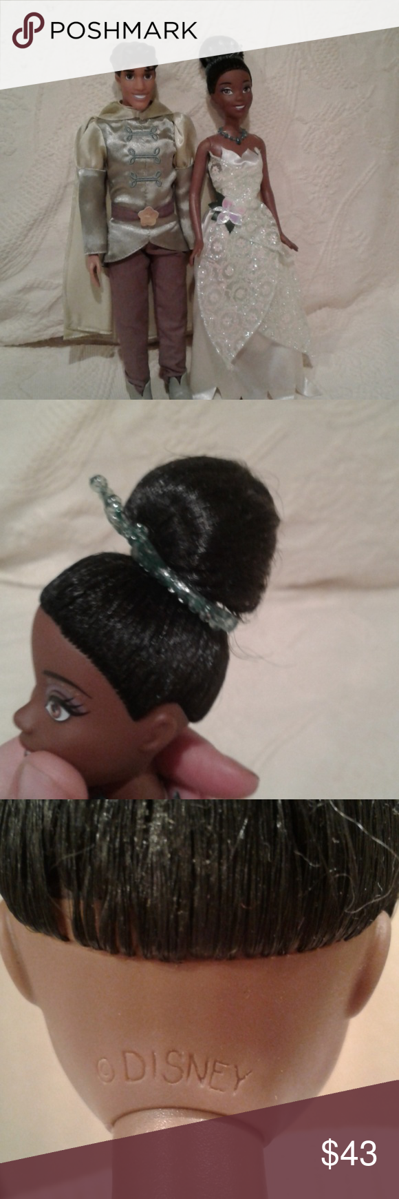Official disney princess and the frog dolls official disney