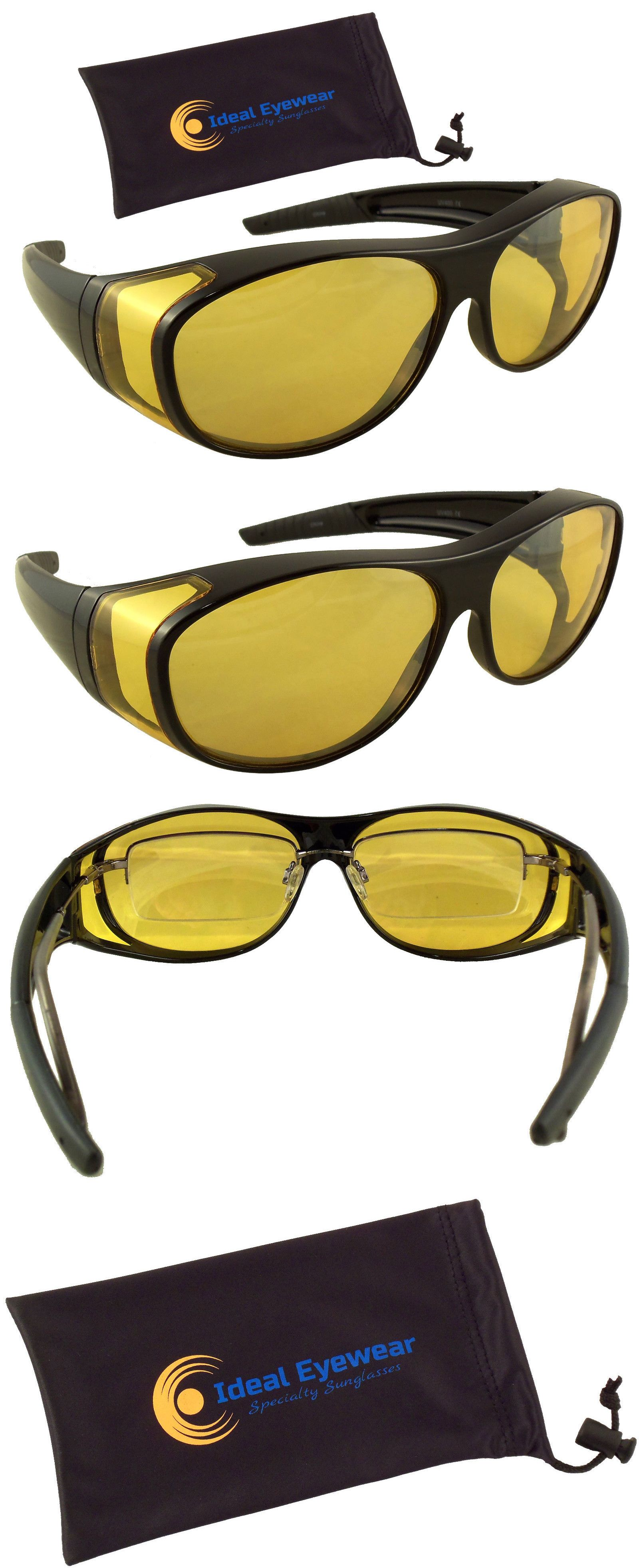 d0a883aba6bb Sunglasses and Sunglasses Accessories 179247: Night Driving Glasses Yellow  Lens Wear Over Cover Anti Glare Fit Over Sunglasses -> BUY IT NOW ONLY:  $16.12 on ...