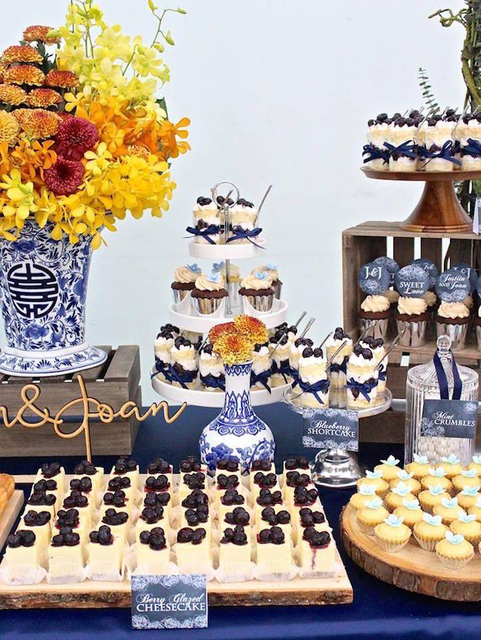 Rustic Asian Wedding Dessert Table Kara S Party Ideas Wedding Dessert Table Wedding Desserts Wedding Buffet Food