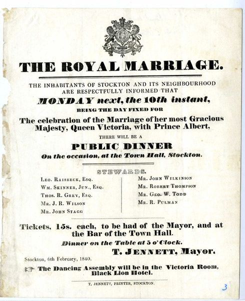 Um Thats Awesome Queen Victoria S Wedding Announcement Thing