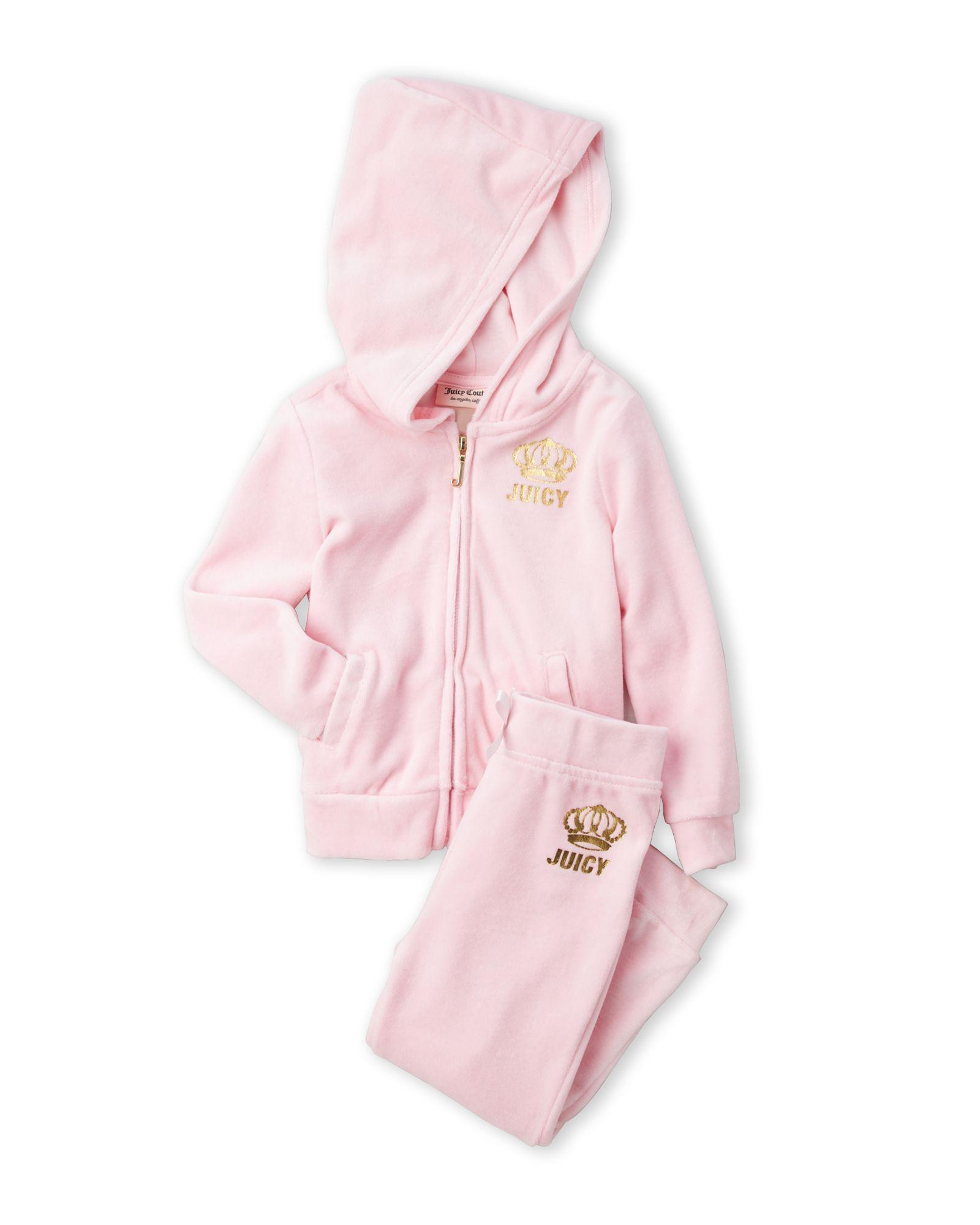 56b2b900c Juicy Couture (Infant Girls) Two-Piece Light Pink Velour Jogging Suit