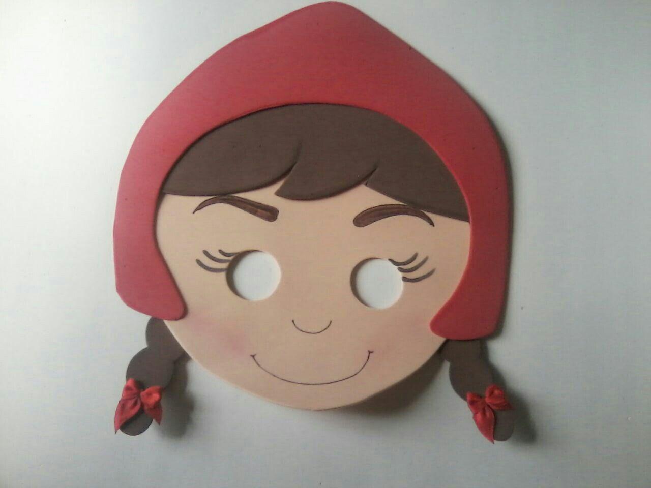 Máscara Chapeuzinho Vermelho Manualidades Para Niños Patrones De Fieltro Caperucita Roja