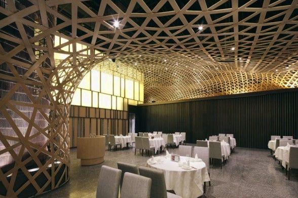 Stunning Bamboo Theme Interior Idea Tang Palace Restaurant In