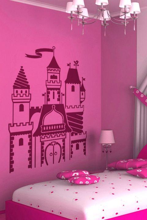 Kids Wall Decals Princess Castle  WALLTAT.com Art Without Boundaries