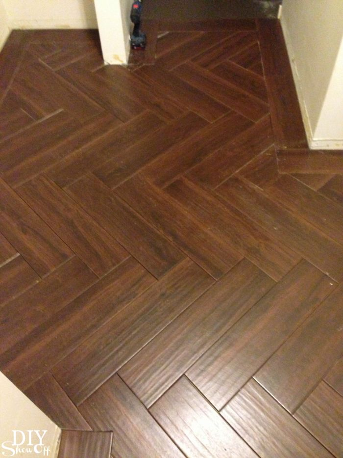 Diy Show Off Herringbone Tile Pattern Herringbone Tile Floors And Herringbone Tile