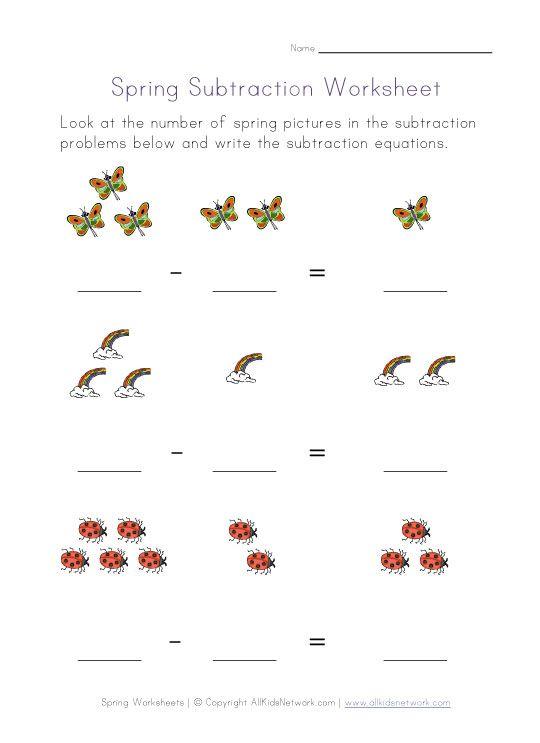math worksheet : kindergarten subtraction worksheet  children s worksheets  : Preschool Subtraction Worksheets
