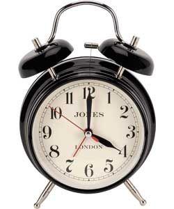 Jones By Newgate Rise And Shine Medium Alarm Clock In Black From