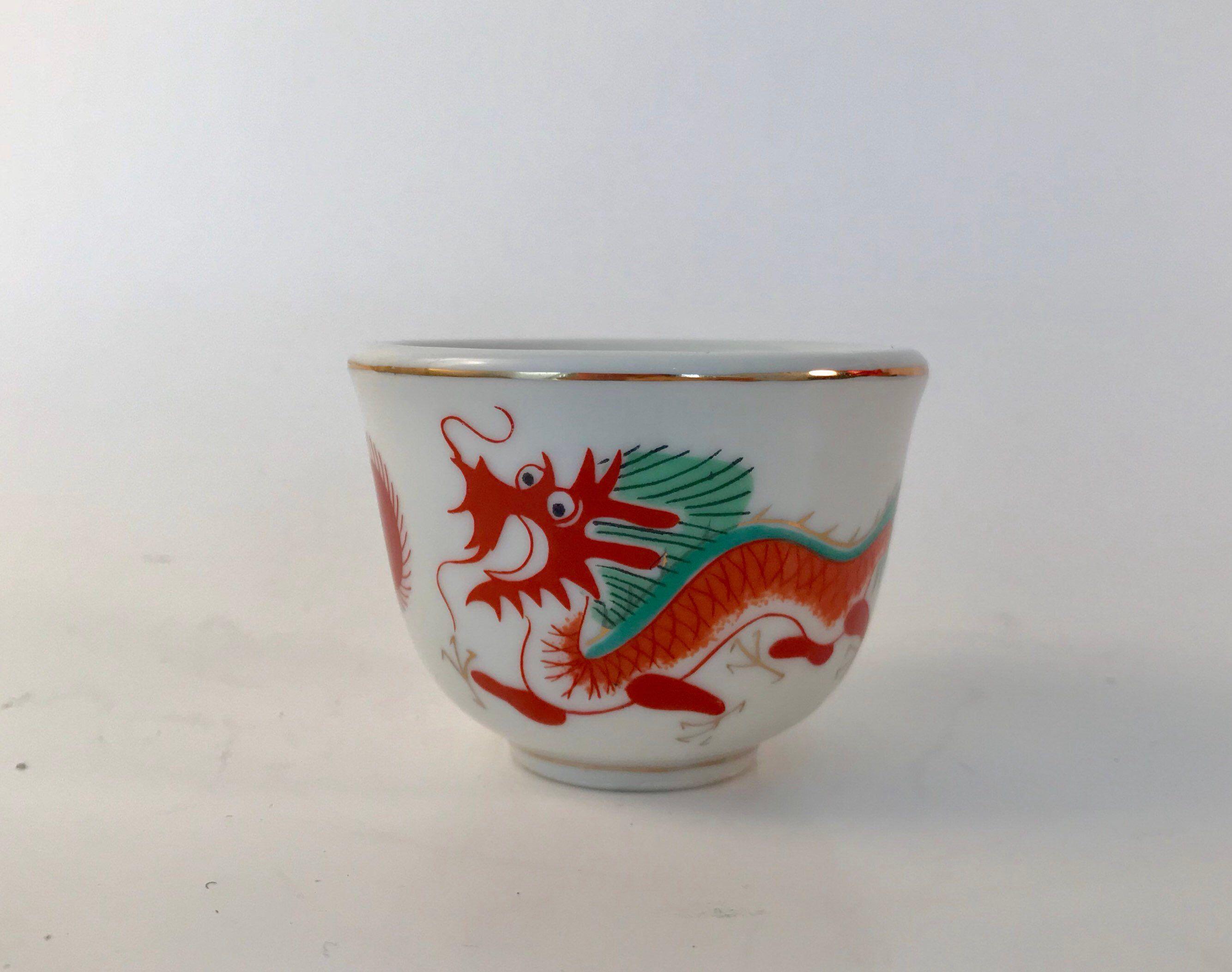 Vintage Asian Style Ceramic Tea Cup