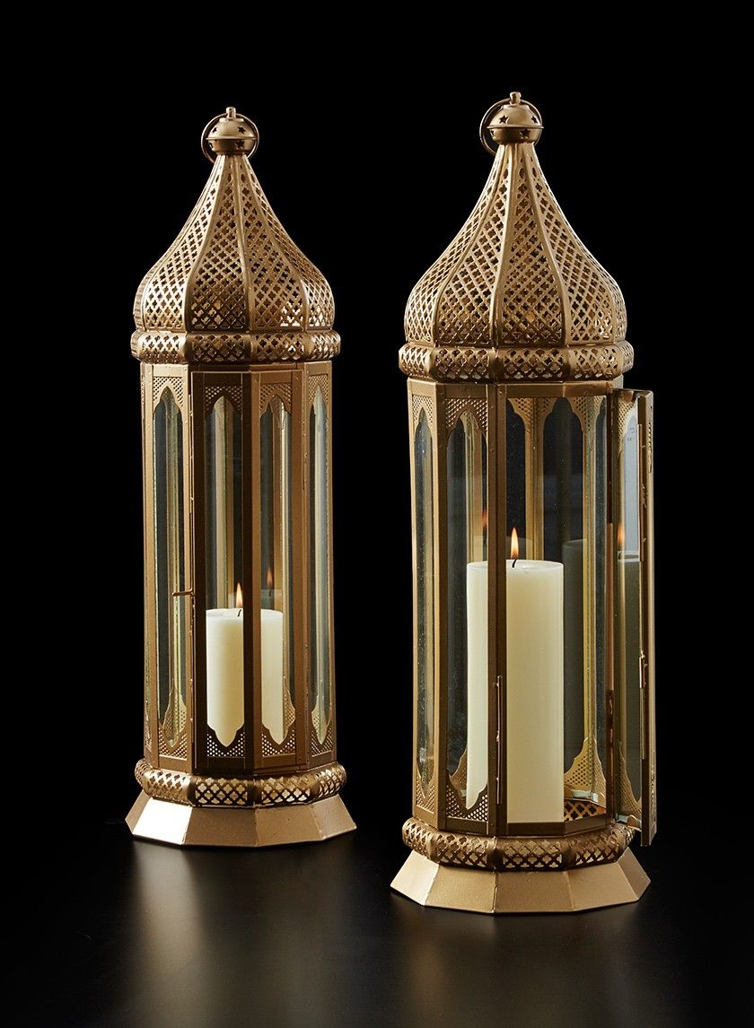 24in al azhar gold lantern indian wedding ceremony florist tall gold iron moroccan lantern asian indian wedding ceremony event party decorations florist supplies nyc flower junglespirit Images