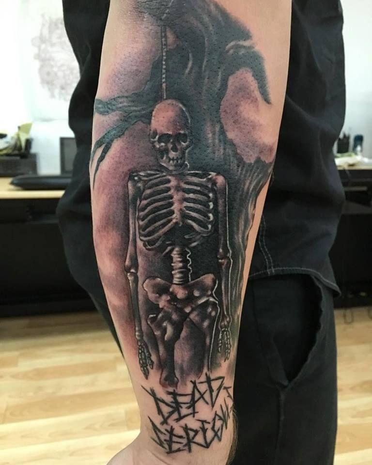 Custom skeleton piece by tye_youmans art gallery tattoos