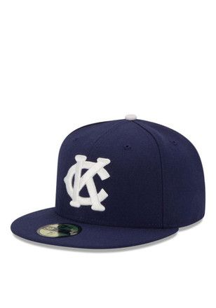 sports shoes d3ca3 c5252 KC Monarchs New Era Mens Navy Blue 2016 59FIFTY Fitted Hat