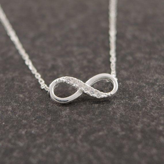 infinity halsband silver