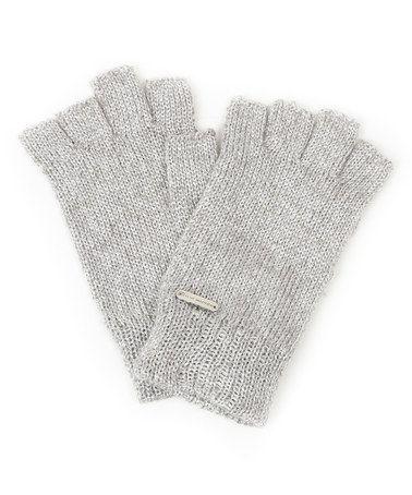 Look at this #zulilyfind! Silver Metallurgy Knit Fingerless Gloves #zulilyfinds