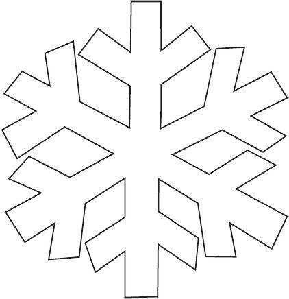 Snowflake 1 Template | Scribd | crafts | Pinterest | Navidad, Nieve ...