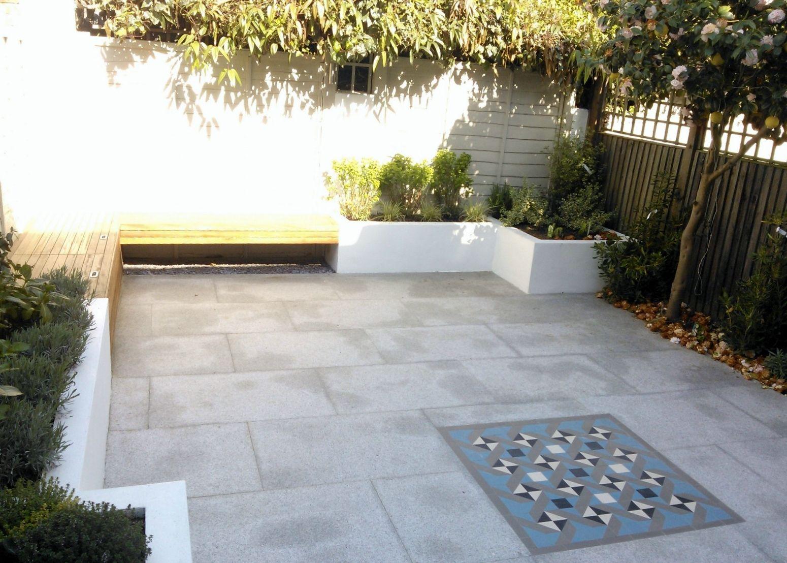 small gardens - anewgarden decking paving design streatham clapham