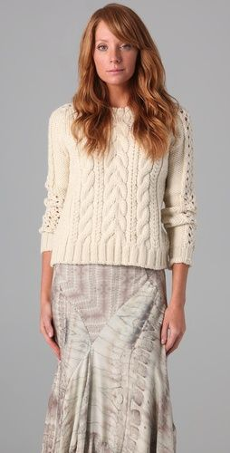 Haute Hippie  Fisherman Sweater  $395.00...I do not know of one hippie that would spend 400 bucks on a sweater...lol just sayin