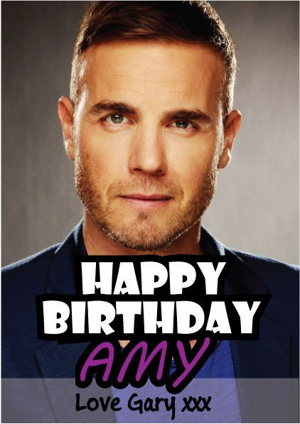 Gary Barlow Personalised Birthday Card A5