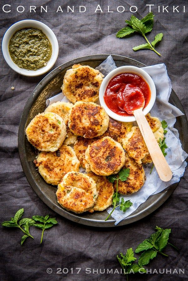 corn and aloo tikkis recipe potato cutlets appetizer recipes indian appetizers on hebbar s kitchen recipes aloo tikki id=75156