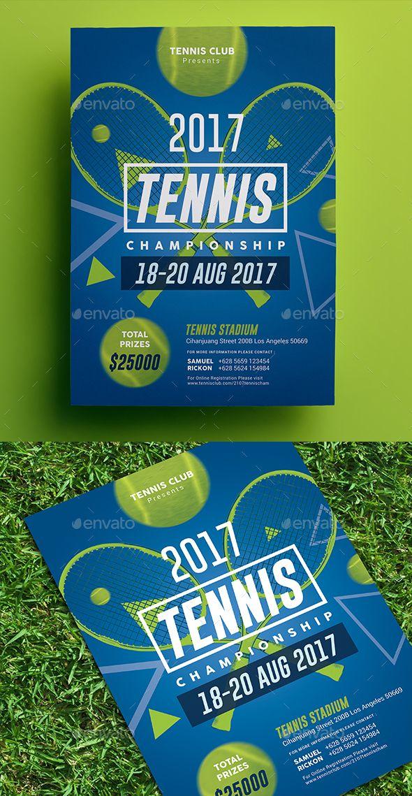 Tennis Championship Flyer 02 Deportes Tenis Disenos De Unas