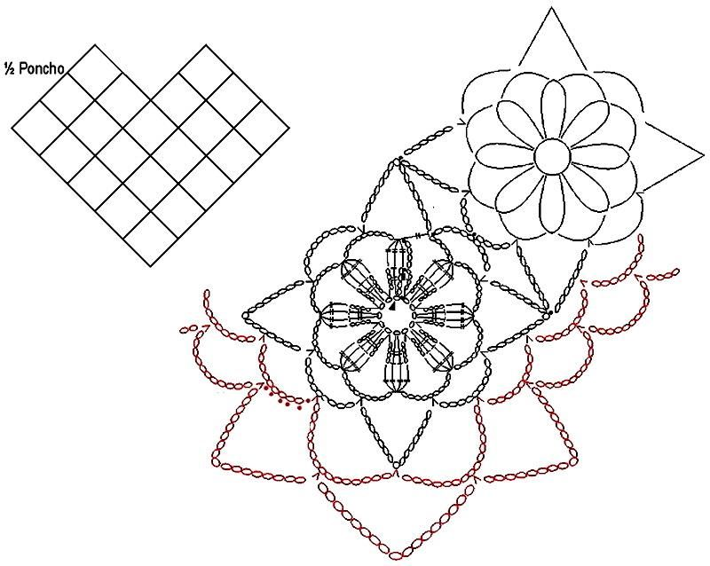 Gorgeous Poncho | tejidos crochet | Pinterest | Ponchos, Chal y Tejido