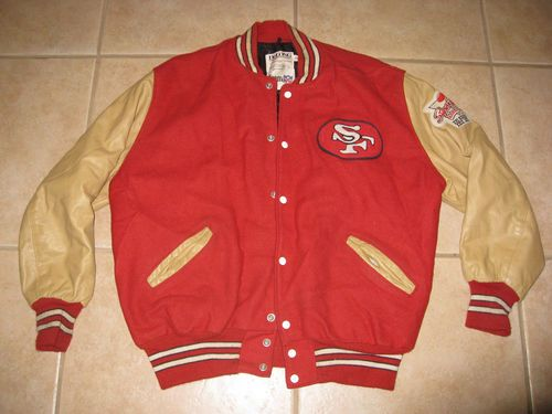 quality design 0d4d4 b1b0b Vintage San Francisco 49ers Starter DeLong Varsity Leather ...