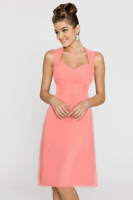 Alexia Bridesmaids Bella Chiffon Bridesmaid Dress With Keyhole Back