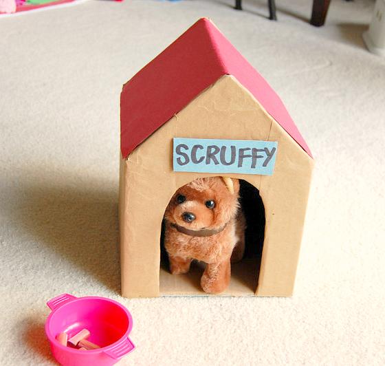 Diy Play Dog House For Kids Cardboard Toys Dog House Diy Diy Cardboard