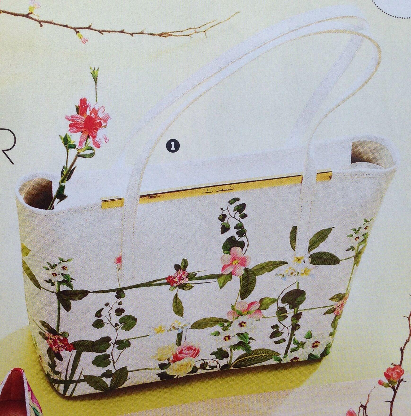 Tasche Blumenmuster Leder bedruckt