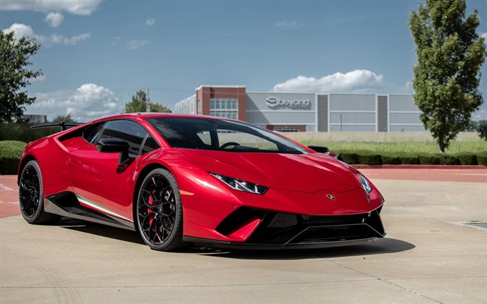 Download Wallpapers Lamborghini Huracan Performante 2018 Red