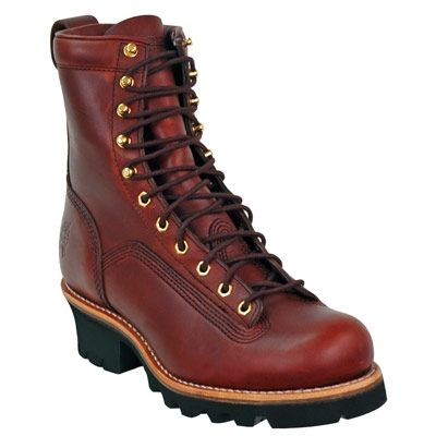 Chippewa Boots Men's Brown Leather 73075 Sportility Logger Work Boots