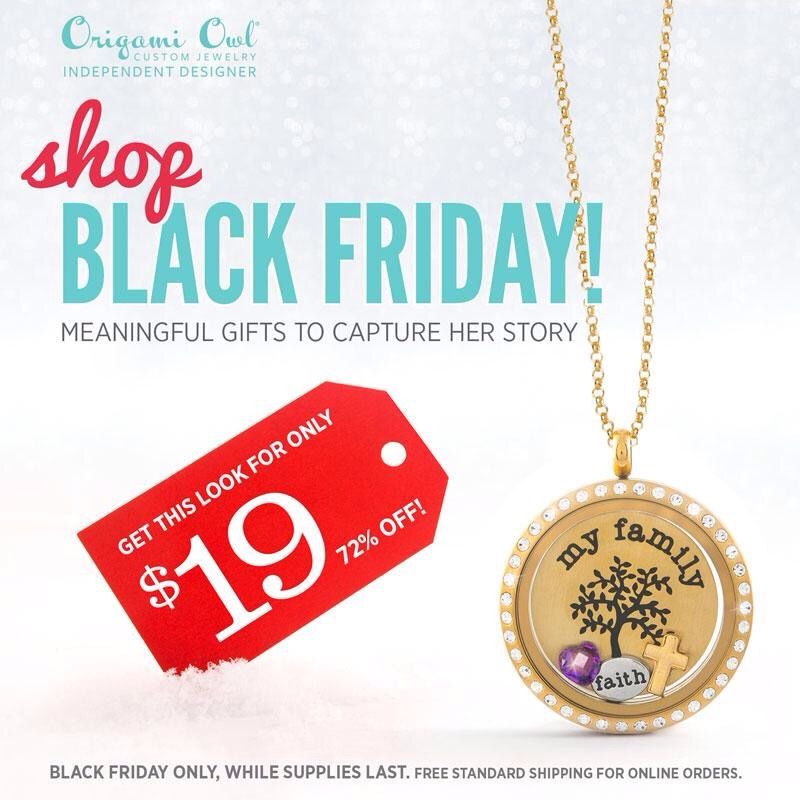 Origami Owl Black Friday sale starts at midnight, while supplies last!  Visit www.loriewaddell.origamiowl.com to save!
