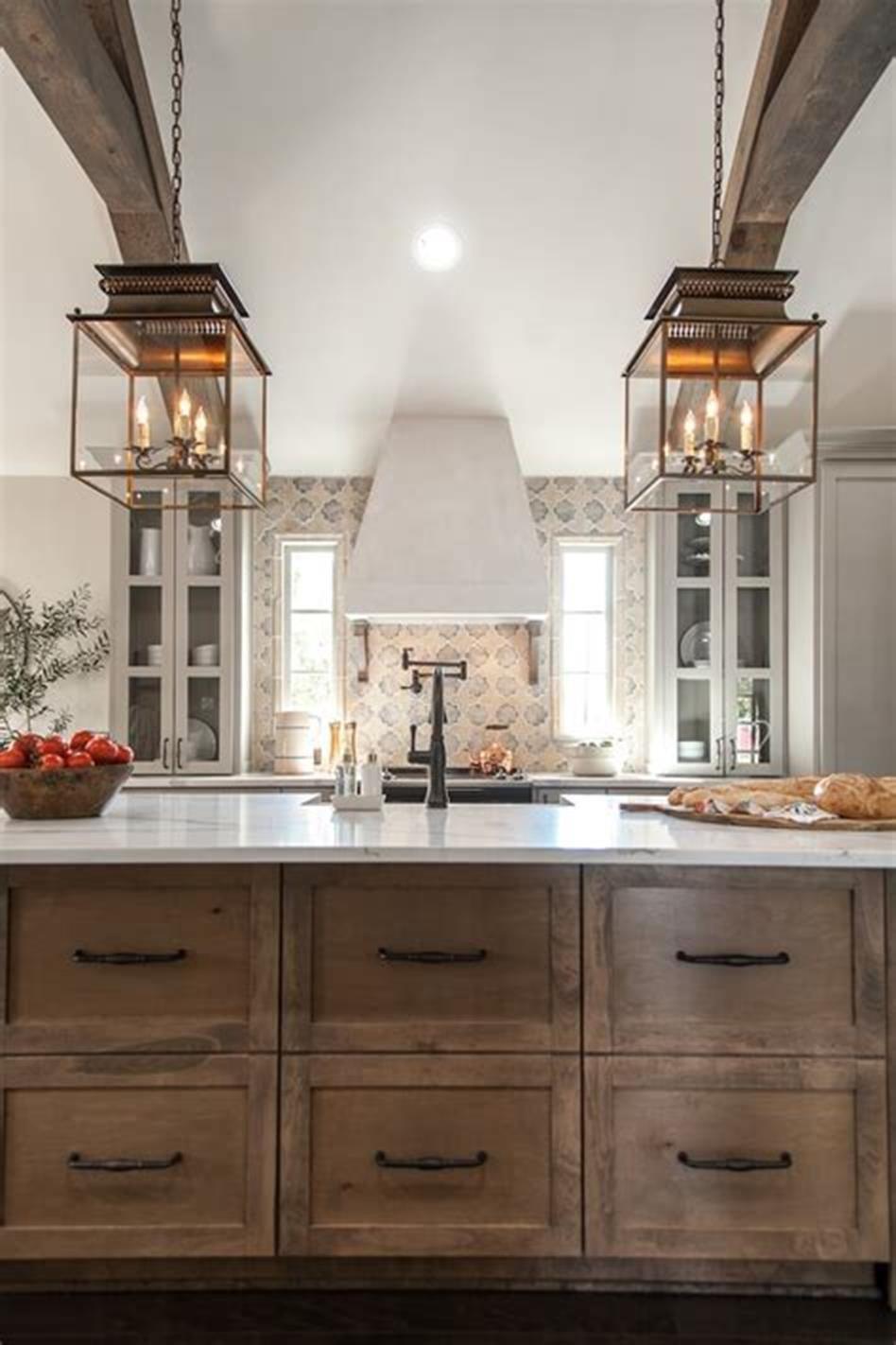 50 inspiring farmhouse style kitchen lighting fixtures ideas 27 farmhouse style kitchen home on farmhouse kitchen shelf decor id=25862