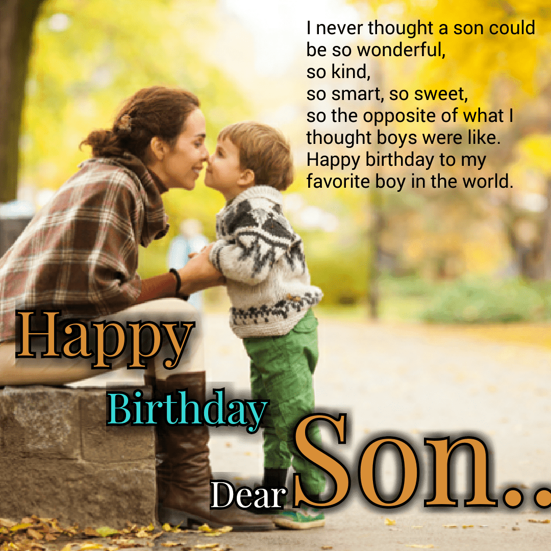 Happy Birthday Wishes For Son Birthday wishes for son
