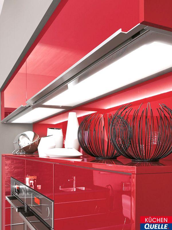Wer Rot mag, wird diese Einbauküche lieben! Die Fronten unserer - www küchen quelle de