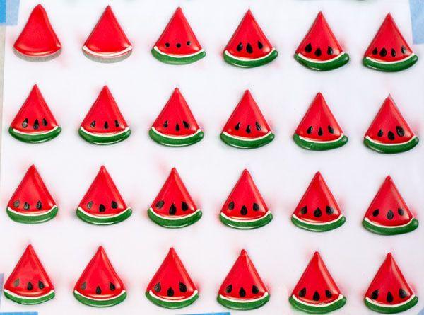 Royal Icing Watermelons & Templates | The Bearfoot Baker
