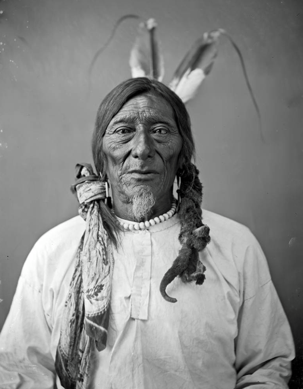 Rarely seen... here is a Native American Dakota man with facial ...