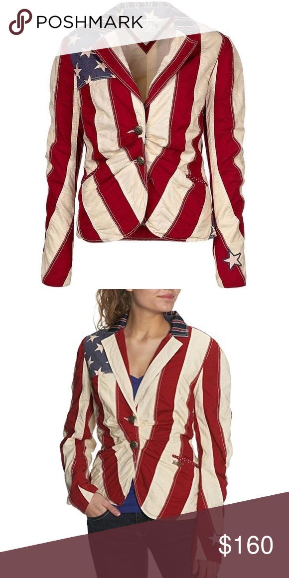 27165f5eeaf Blazer Tommy Hilfiger American Flag Small S Jacket Tommy Hilfiger denim american  flag blazer size S ❤ 🇺🇸 🔶 US flag  patriotic print.