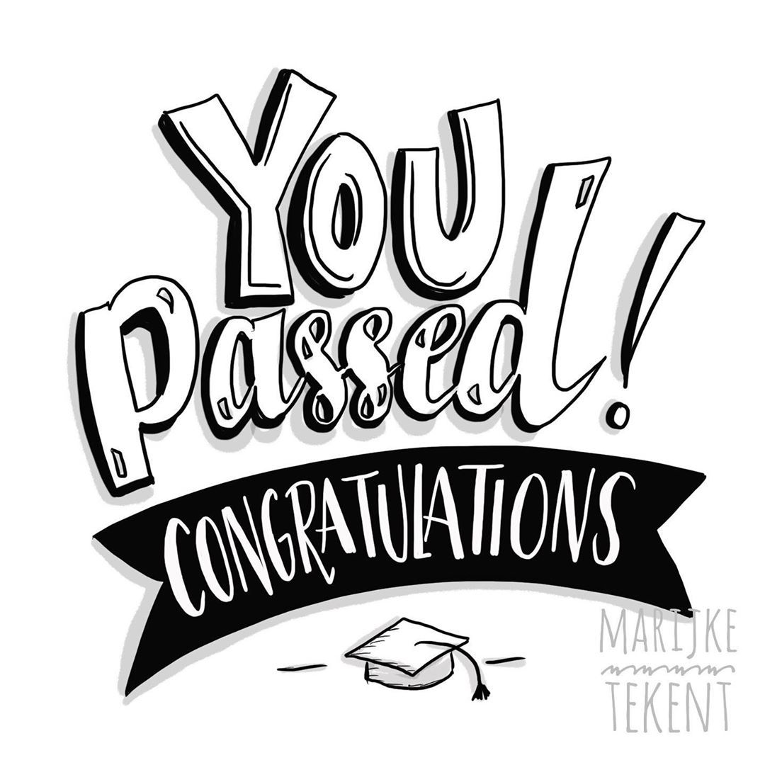 Voor Iedereen Die Geslaagd Is Letteren Lettering Handlettering Handletteren Congratulations Exams Examens Instagram Congratulations Handlettering