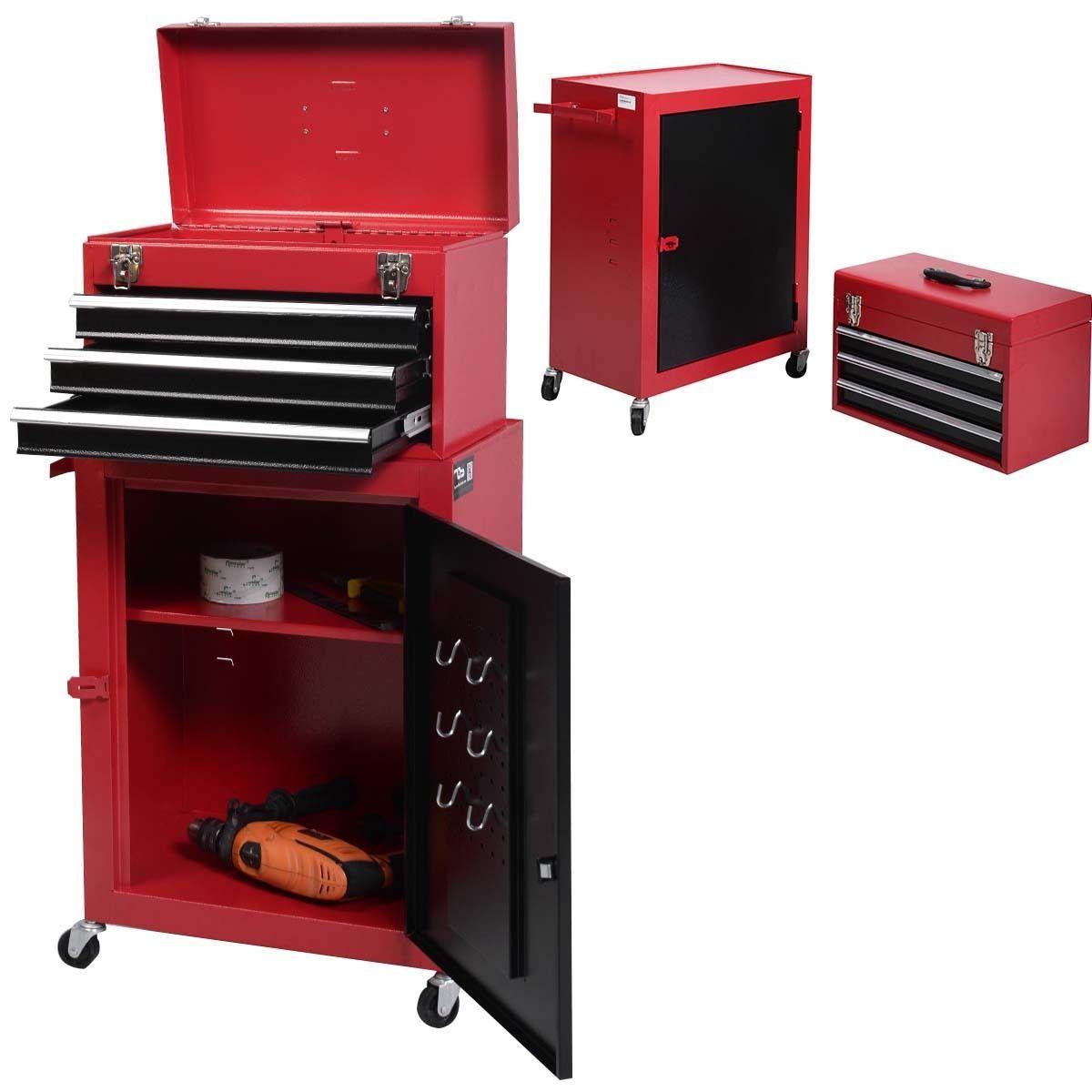 2pc Mini Tool Chest Cabinet Storage Box Rolling Garage Toolbox Organizer  New   EBay